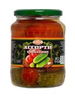 Ассорти овощное (огурцы, помидоры) 720 мл